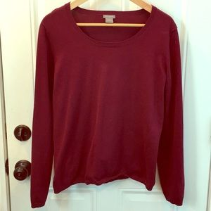 Large Ann Taylor burgundy pullover sweater.